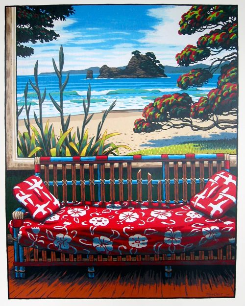 Red Couch Whangapoua Beach